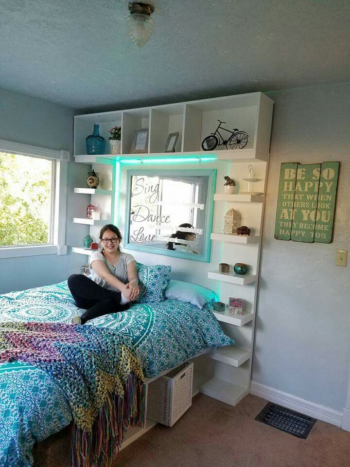teenage room built with ikea shelves  teenage room ikea