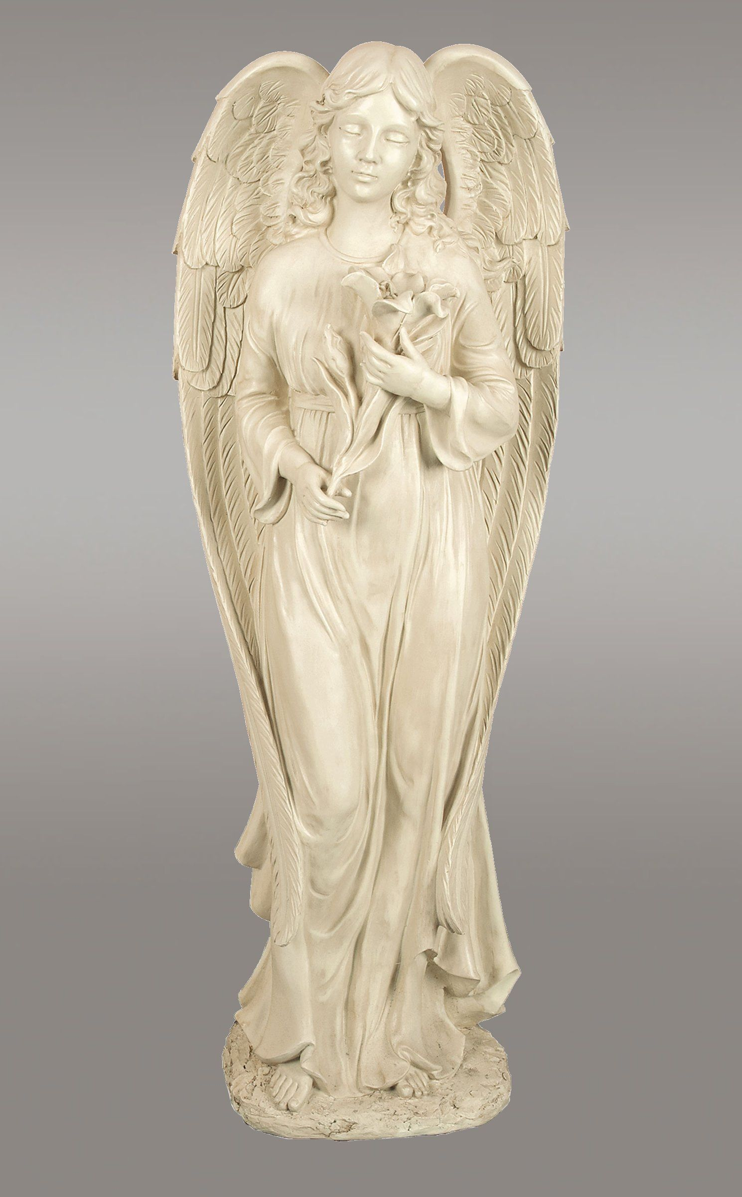 Divine Grace Garden Angel Statue Buy Angel Statues Here Over 4 Feet Tall Beautiful Solid Ivory Appearance By Angel Garden Statues Statue Angel Sculpture
