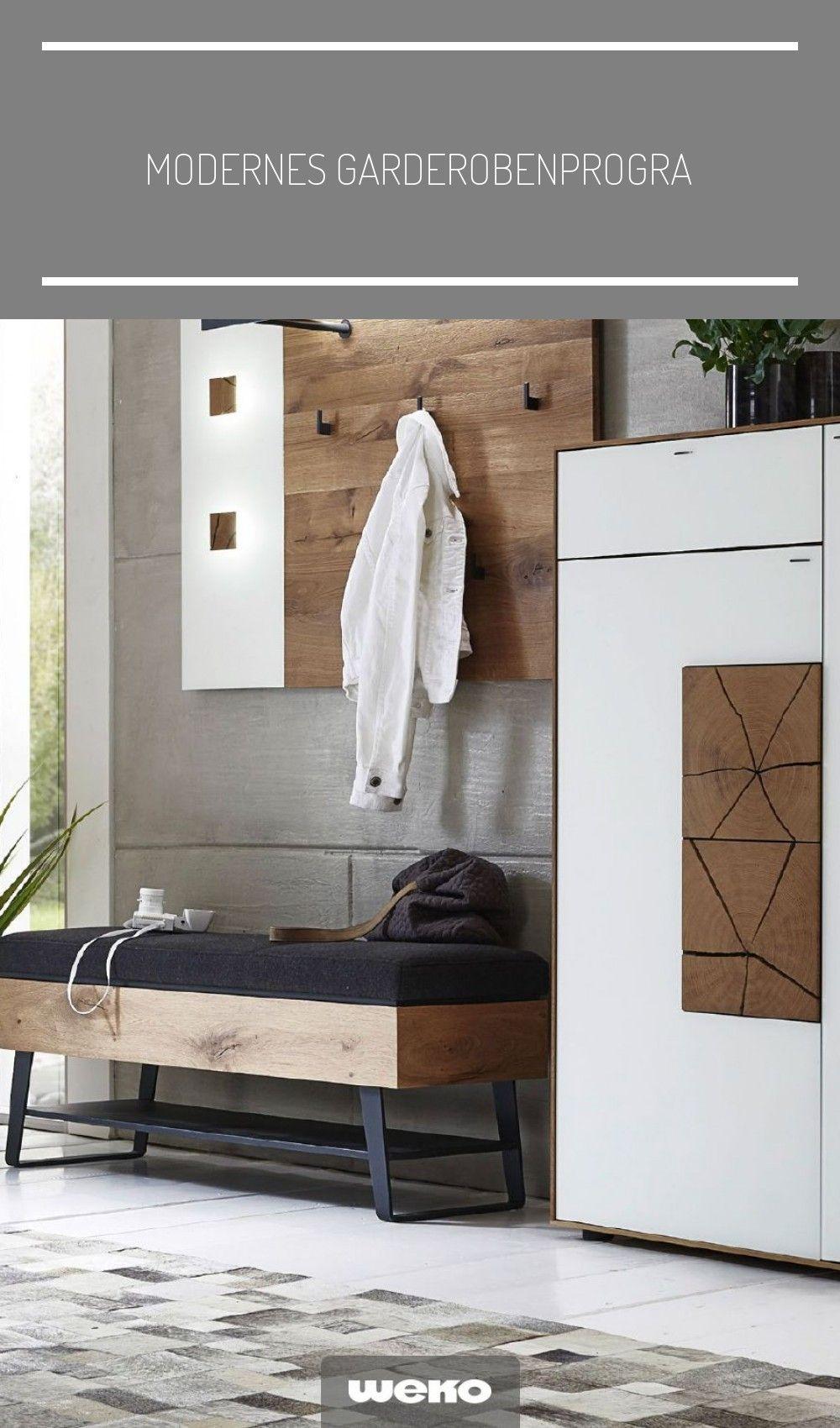Modernes Garderobenprogramm In Kerneiche Geburstet Stauraum Flur Diele Garderobe Eiche Massiv Massivholz Modern Kom In 2020 Home Decor Motif Design Furniture