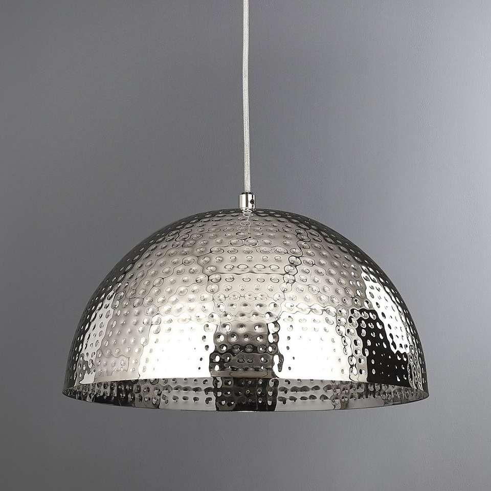 Rocha Beaten Metal Chrome Ceiling Light Fitting Dunelm Ceiling Lights Chrome Pendant Lighting Light Fittings