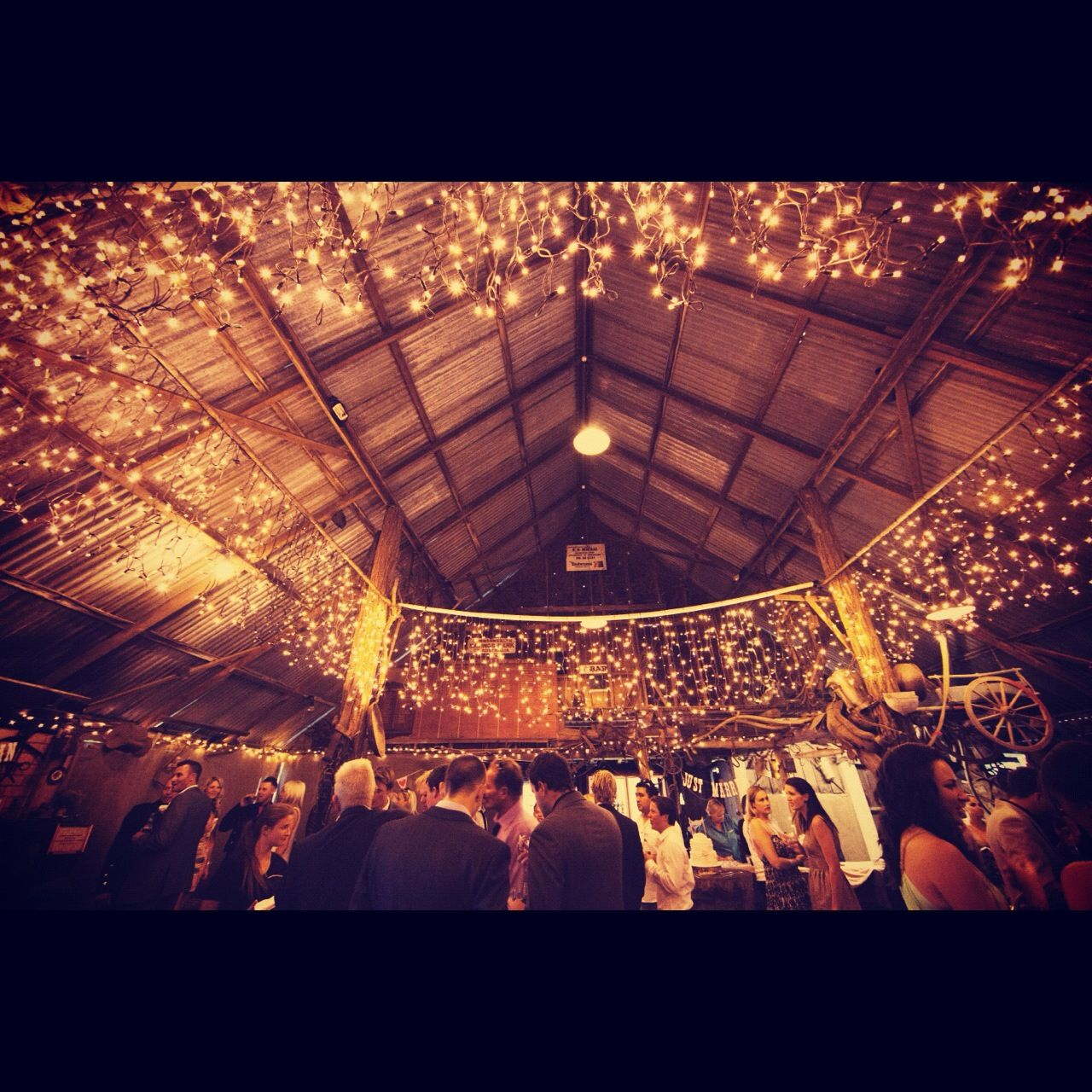 Our Rustic Barn Wedding Fairy Lights Boomerang Golf Course And