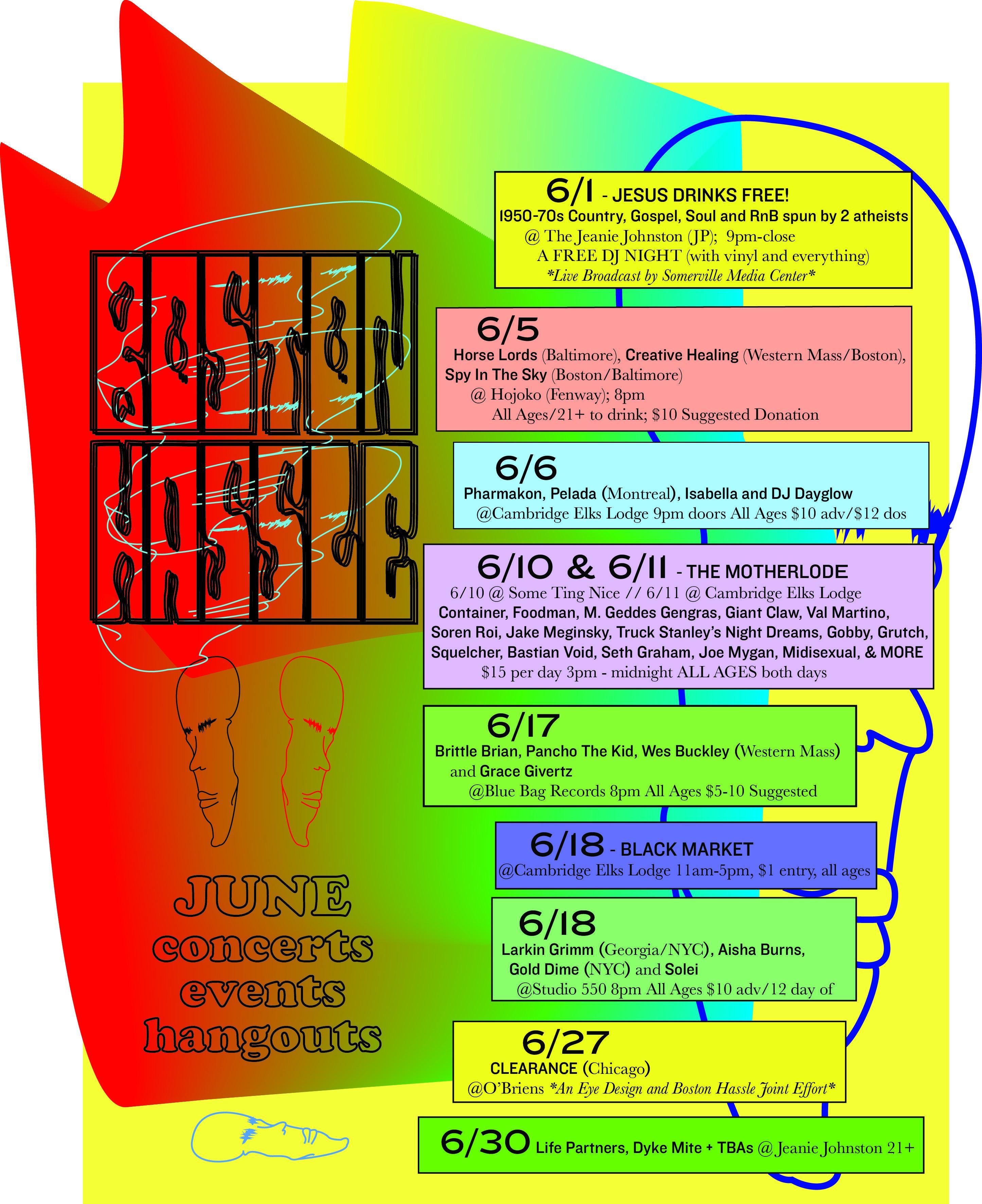 Flyer Design Bold Color Abstract Abrasive Johnston Media