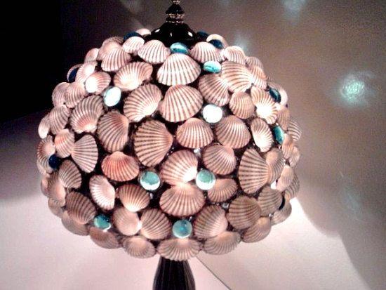 Lamp Seashells Stained Glass - Lighting - Housewares Home & Living