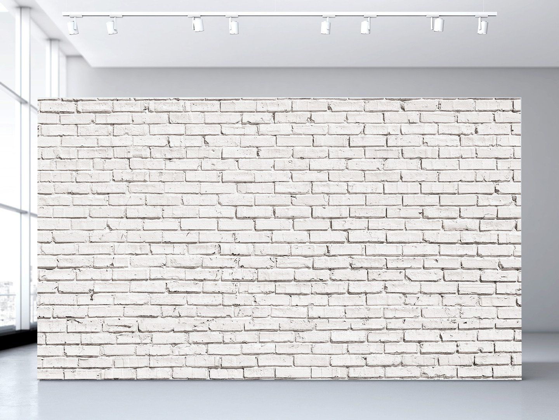 White Brick Wall Mural Wall murals White brick walls and Bricks