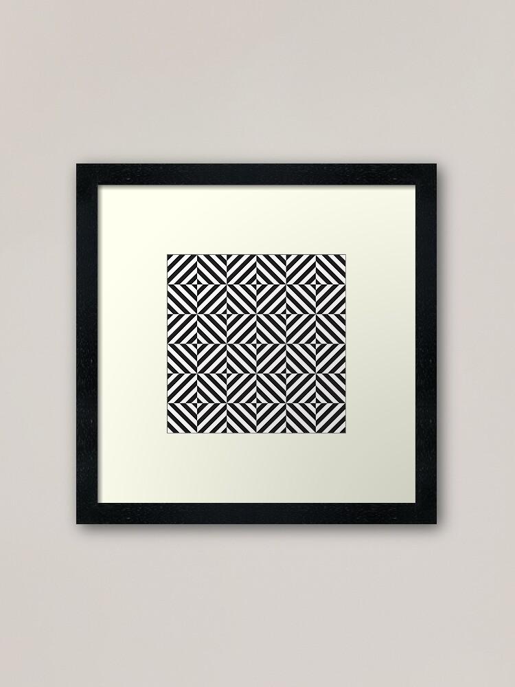 Black And White Diamond Optical Illusion Pattern Framed Print By Kallyfactory Framed Art Prints Framed Prints Optical Illusions