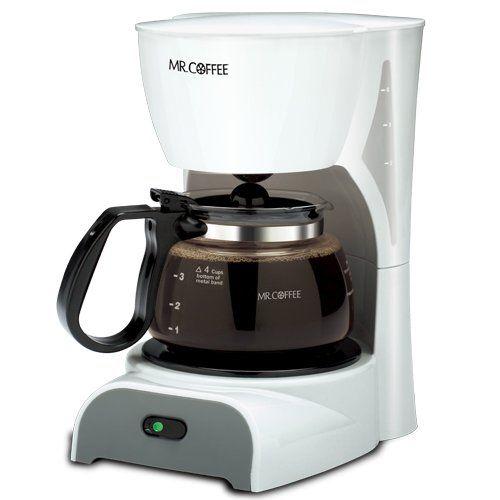 Mr Coffee DR4MC 4 Cup Coffeemaker White