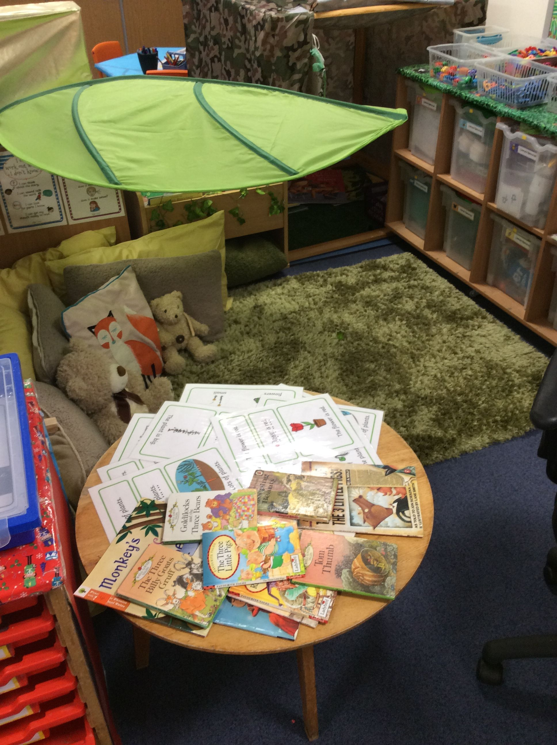 Eyfs reading garden literacy provision once upon a time
