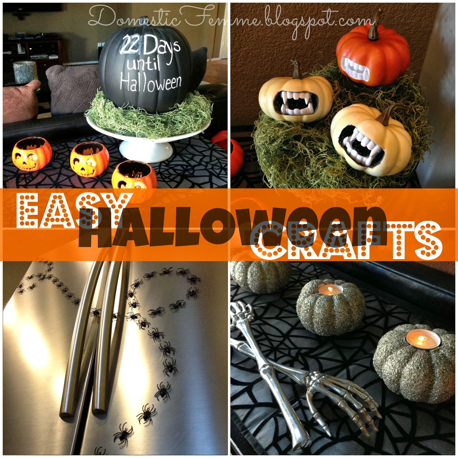 Home Spooky Home: Easy Halloween Crafts | Diy decoration, Dollar ...