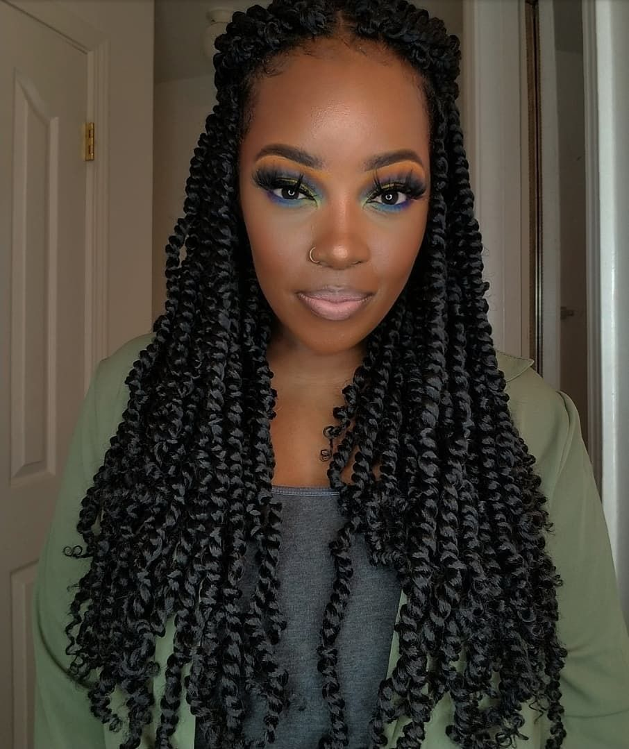pretwisted crochet passion twist hair prelooped passion