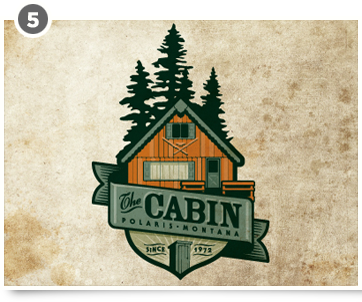 Cabin Logo By Jerron Ames For That Log Cabin Down By The