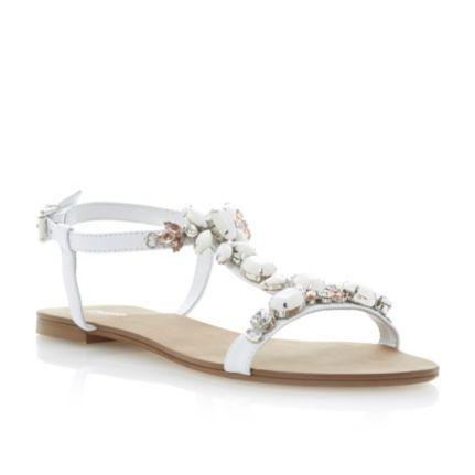 90045b575 DUNE LADIES KHLOE - Jewel Embellished T-Bar Flat Sandal by Dune London   dune  dunelondon  sandals  fashion  jewel  gems  fashion  style  wedding   bridal ...