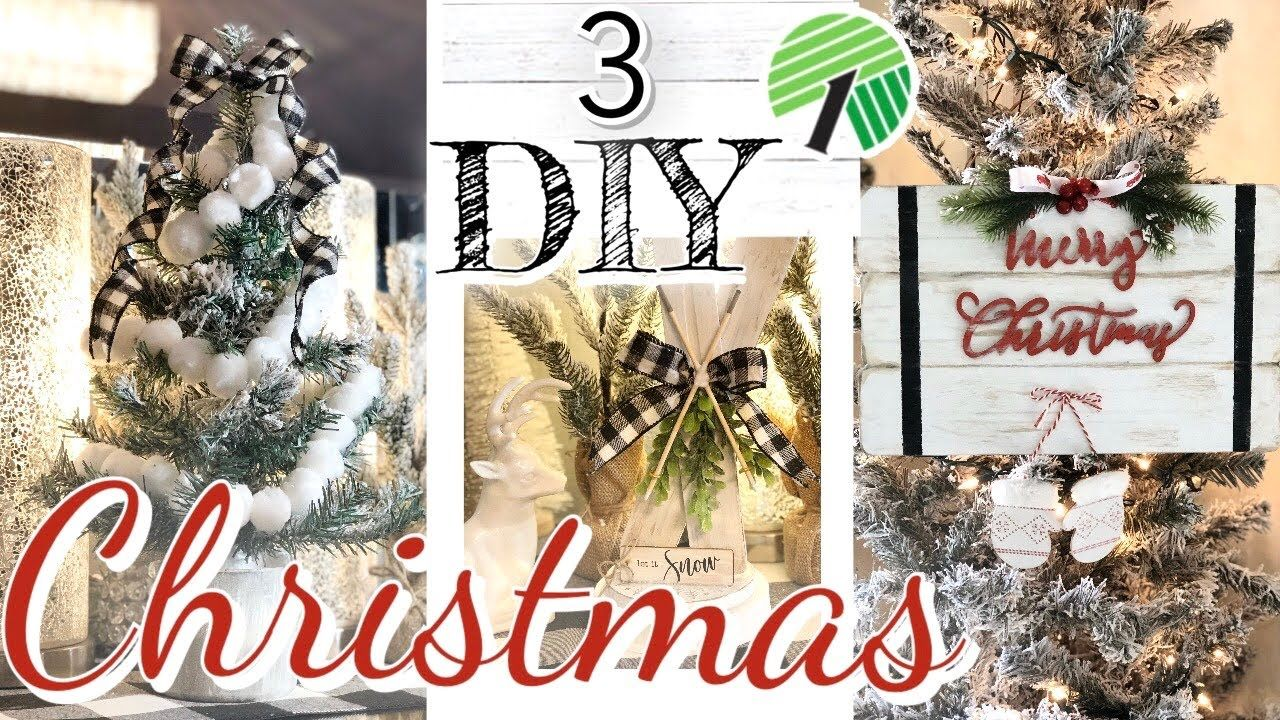 Diy Dollar Tree Farmhouse Christmas Decor Rustic Farmhouse Christmas Trend 2019 Diy D Dollar Tree Christmas Decor Dollar Tree Diy Christmas Decorations Rustic
