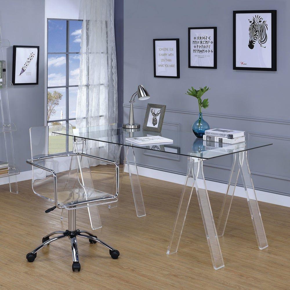 Amaturo Clear Acrylic Sawhorse Writing Desk Coaster In 2020
