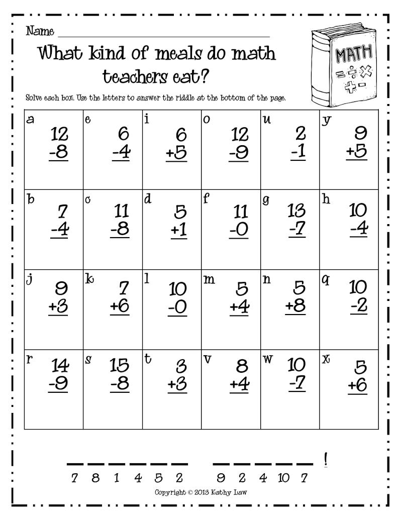 Math Riddle Pdf Google Drive 1st Grade Math Worksheets First Grade Math Worksheets 1st Grade Math [ 1035 x 800 Pixel ]