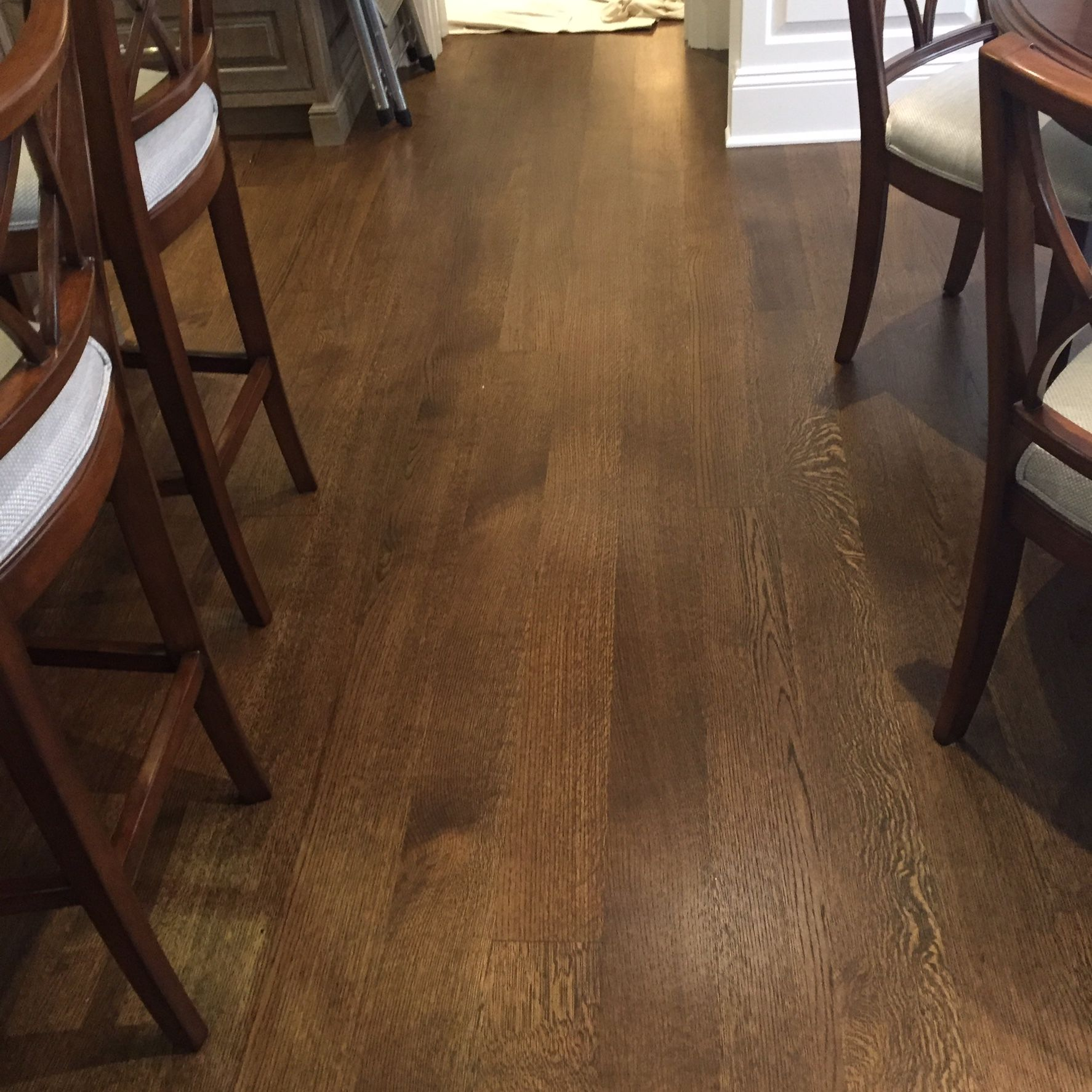 "Rift Sawn 5"" White Oak with a Jacobean Stain"