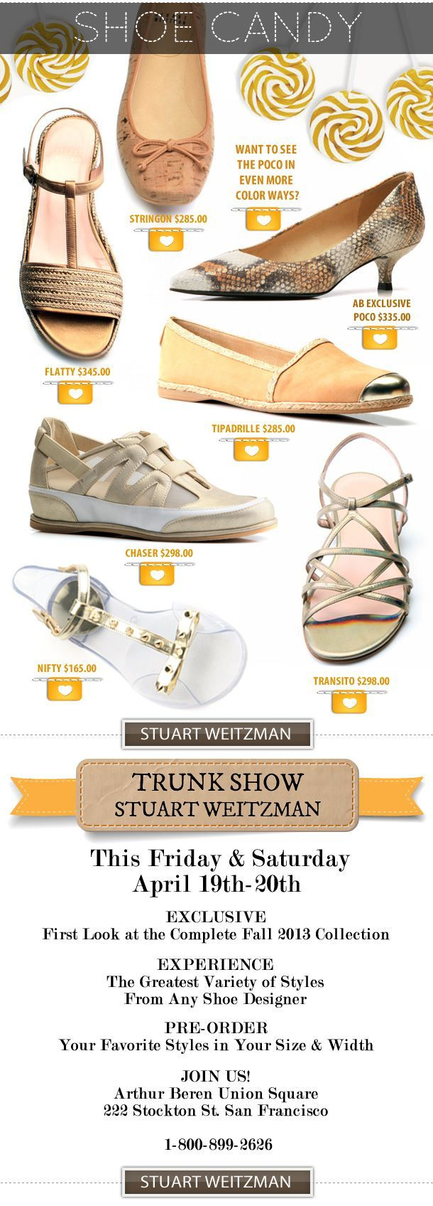 Happening Now Stuart Weitzman Trunk Show Photo booth