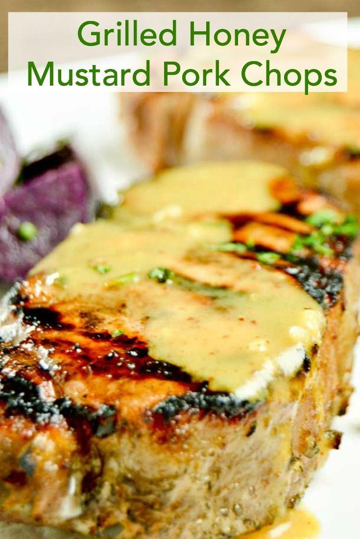 Grilled Honey Mustard Glazed Pork Chops For Easy Bbqing