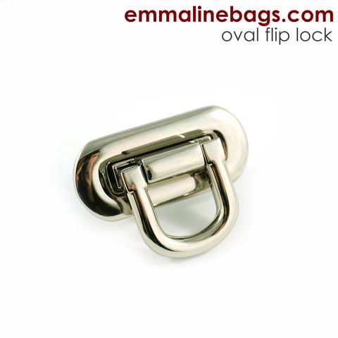 Oval Flip Lock Various Colours Emmaline Bags