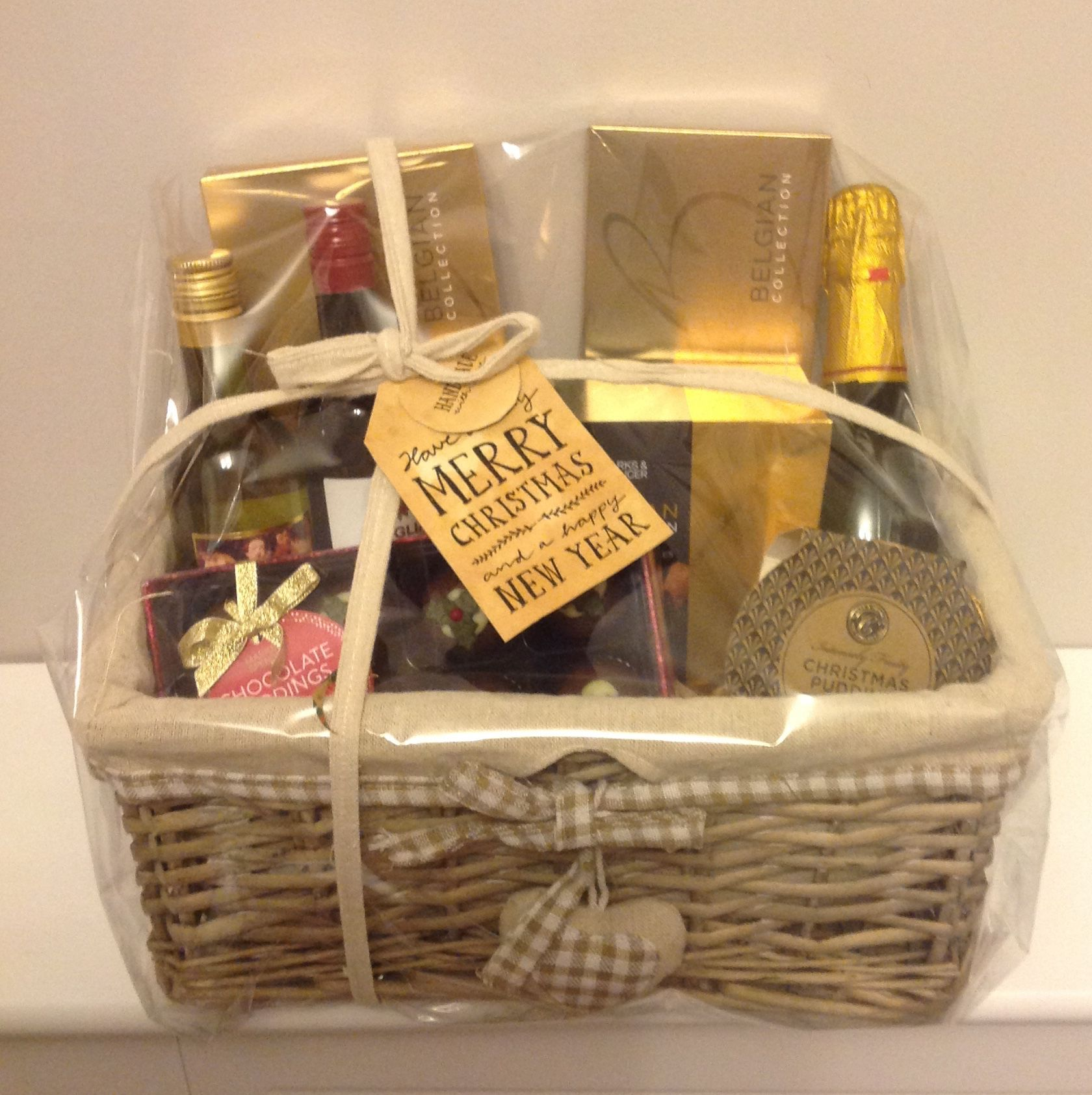 Homemade yummy M&S hamper for Auntie and Uncle Hamper, Auntie, Picnic, Christmas Gifts