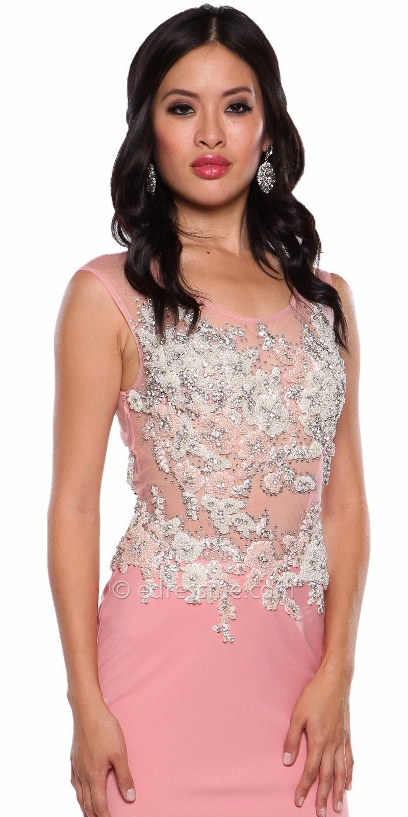 Beaded Floral Applique Prom Dress By Atria | prom | Pinterest | Prom ...