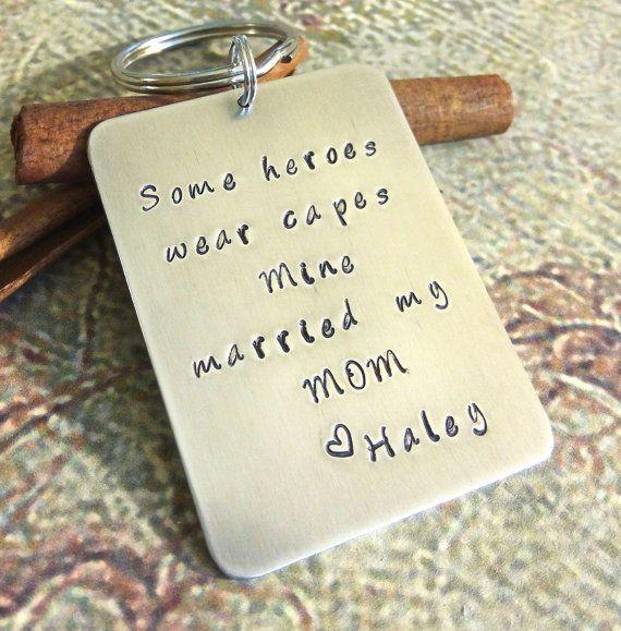 Personalized Stepdad Key Chain