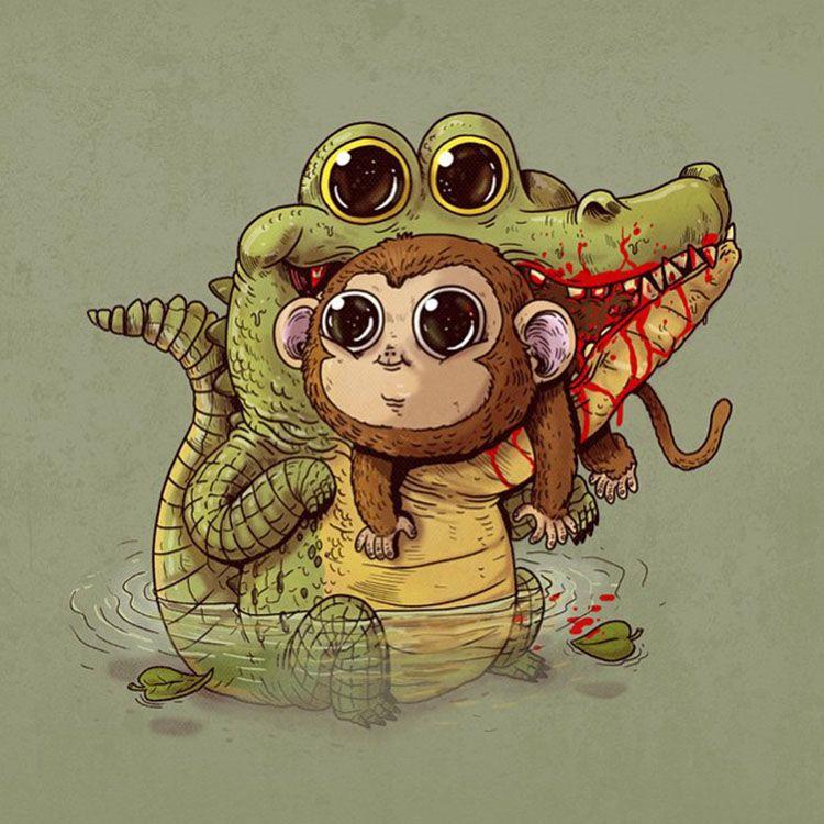 By Alex Solis Animales Espeluznantes Imagenes De Arte Abstracto Dibujos Kawaii De Animales