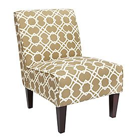 Excellent Armless Accent Chair Ortiz Sand Geometric Print At Big Dailytribune Chair Design For Home Dailytribuneorg