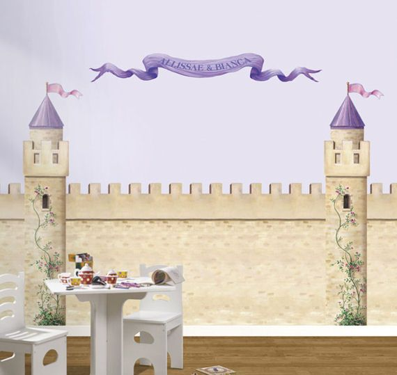 Awesome Considering Doing This On One Wall As A Background For The Princess Decals...  But Would Need Something Similar For Zu0027s Side Of The Room Too.