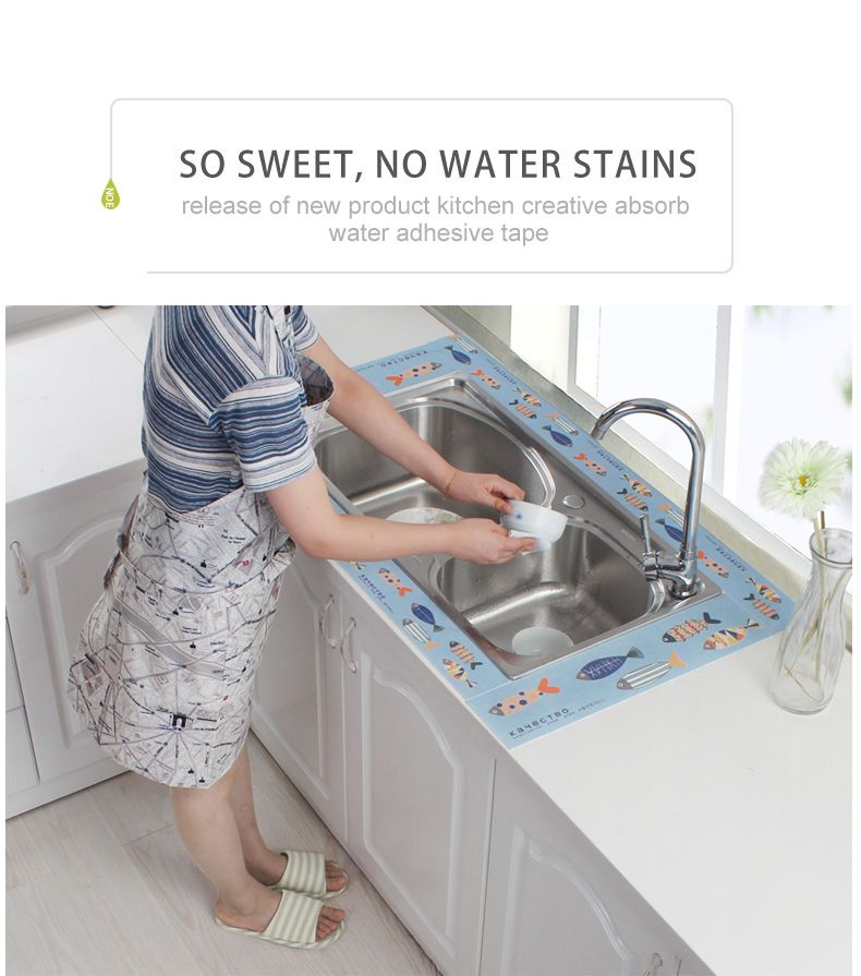 BYDOLL Basin Kitchen Waterproof Adhesive Stickers Bathroom Toilet ...