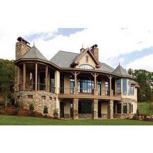 the the hollowcrest house plans rear exterior house plans by designs direct - Exterior House Plans