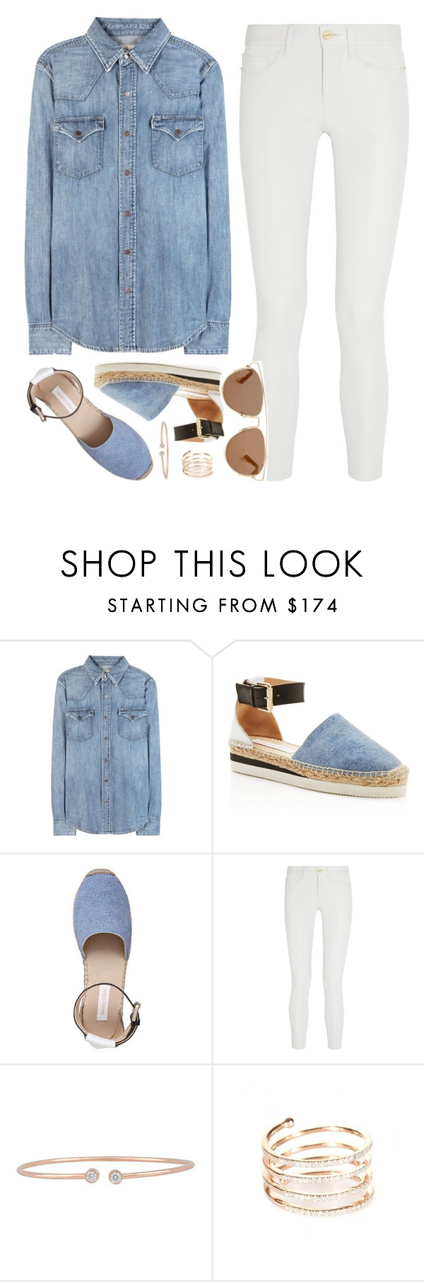 """OOTD"" by felytery ❤ liked on Polyvore featuring Polo Ralph Lauren, See by Chloé, Frame Denim, Forevermark, STONE and Christian Dior"