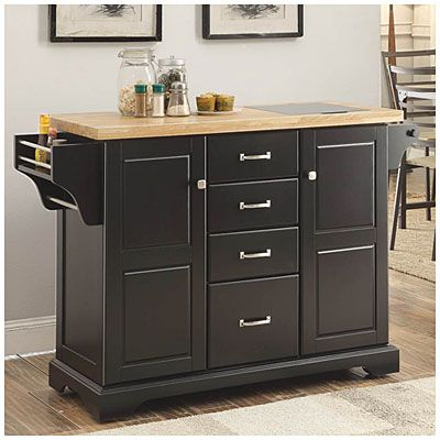 Black Kitchen Cart at Big Lots. | pretty girl stuff | Pinterest ...
