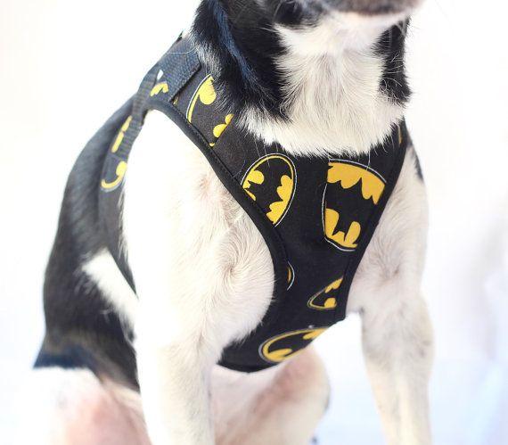 K9exclusive Batman Dog Harness Dog Collar Dog Clothes Batman Dog