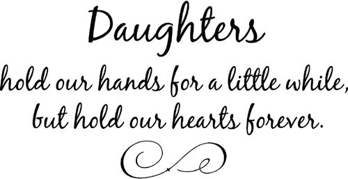 Daughters Hearts Hands | Wall Decals | Father daughter ...