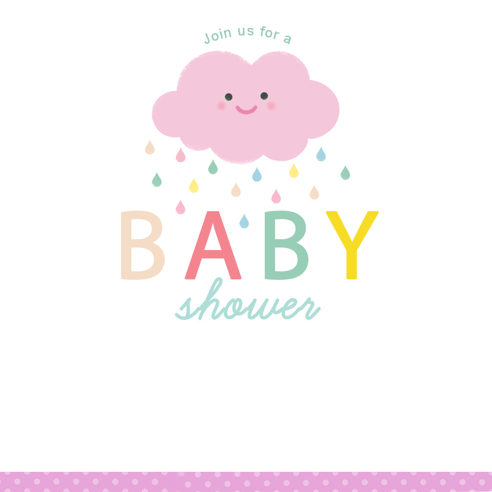 Shower Cloud Free Printable Baby Shower Invitation