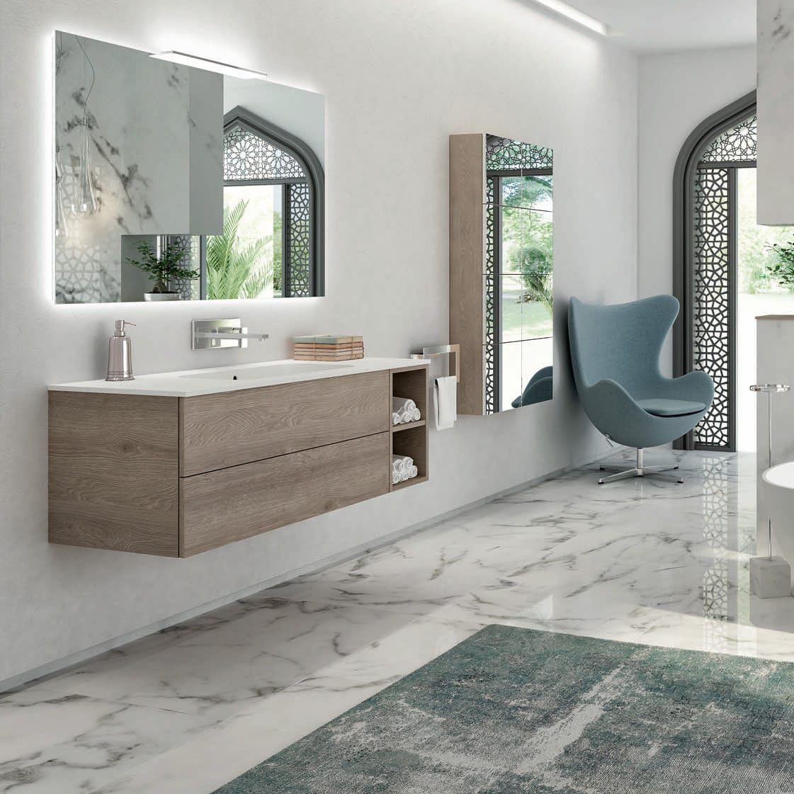 Doppel waschtischunterschrank design  Waschtischunterschrank Modern | gispatcher.com