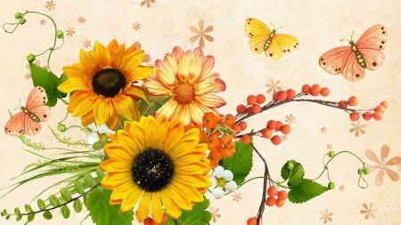 Late Summer Desktop Nexus Wallpapers Late Summer Flowers Summer Wallpaper Wallpaper
