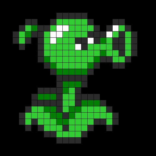 Peashooter Perler Bead Pattern | Bead Sprites | Characters Fuse Bead Patterns