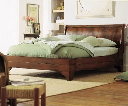 Stratford Flame Mahogany Sleigh Bed Sleigh Beds Beds Direct Bed