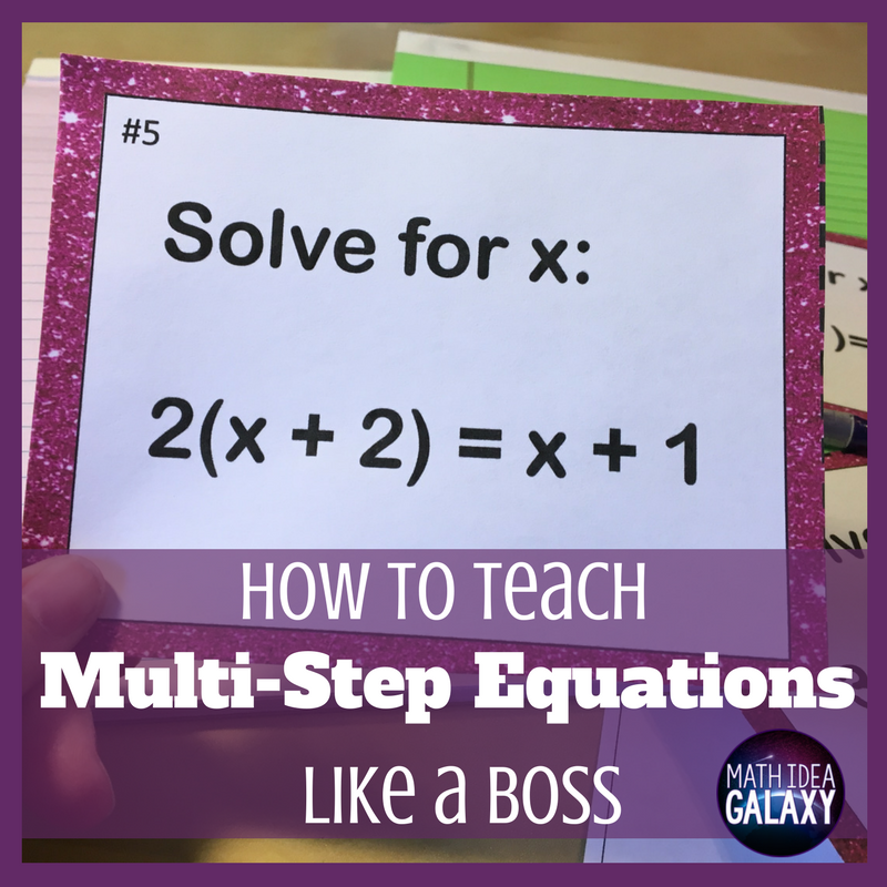 How to Teach Multi-Step Equations Like a Boss | Pinterest | Equation ...