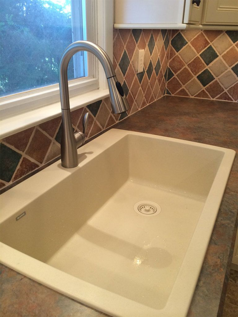Blanco granite drop in sink with laminate countertop; Masters-Touch ...