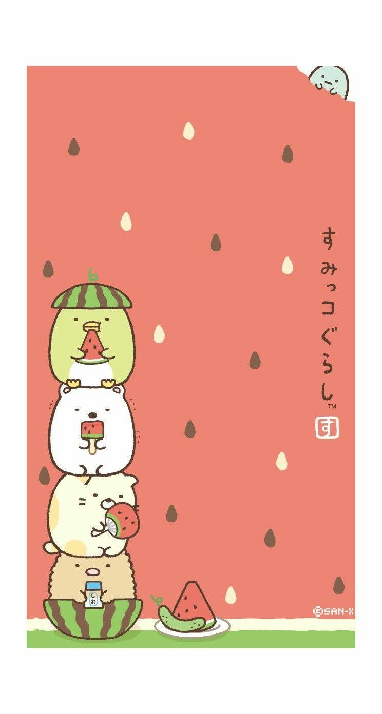 【人気54位】すみっコぐらし (夏Ver) | iPhone5s壁紙/待受画像ギャラリー
