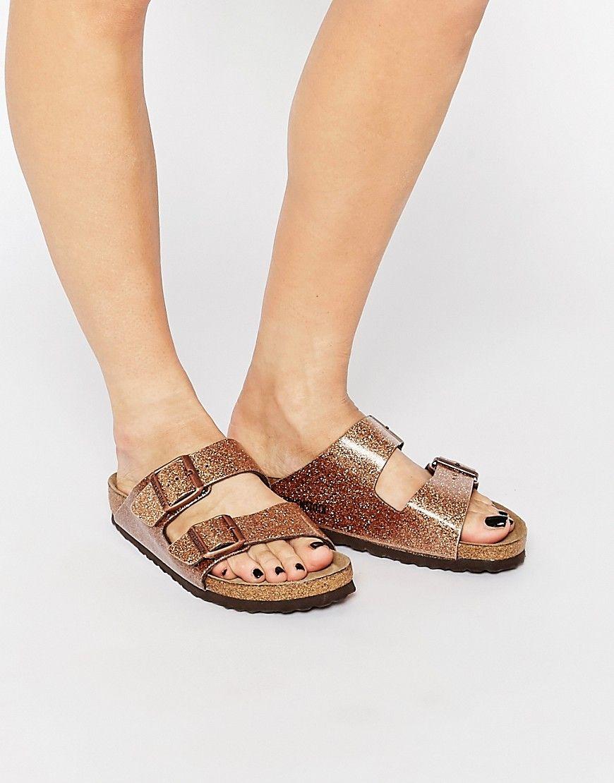 1f2ecbe083da Image 1 of Birkenstock Arizona Magic Galaxy Bronze Flat Sandals