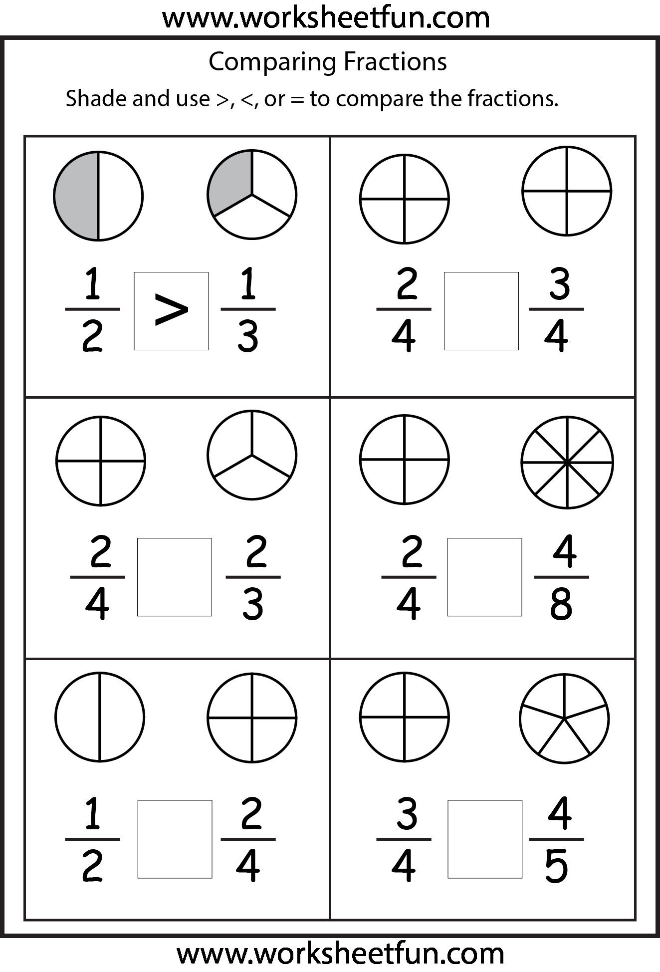 5 Adding Fractions with Like Denominators Worksheets 2 in 2020   2nd grade  math worksheets [ 1948 x 1323 Pixel ]
