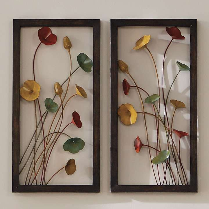 Three-dimensional Metal Poppy Wall Art ... Aahhh my rug now comes ...