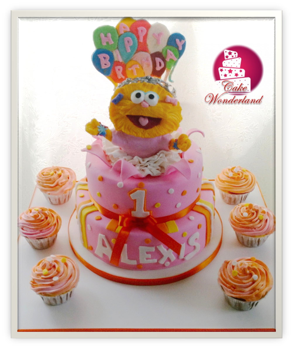 zoe sesame street cake....this is cute something like this except ...