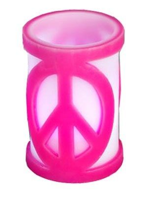 6 Peace Sign Candles Color Changing Flame Less Led