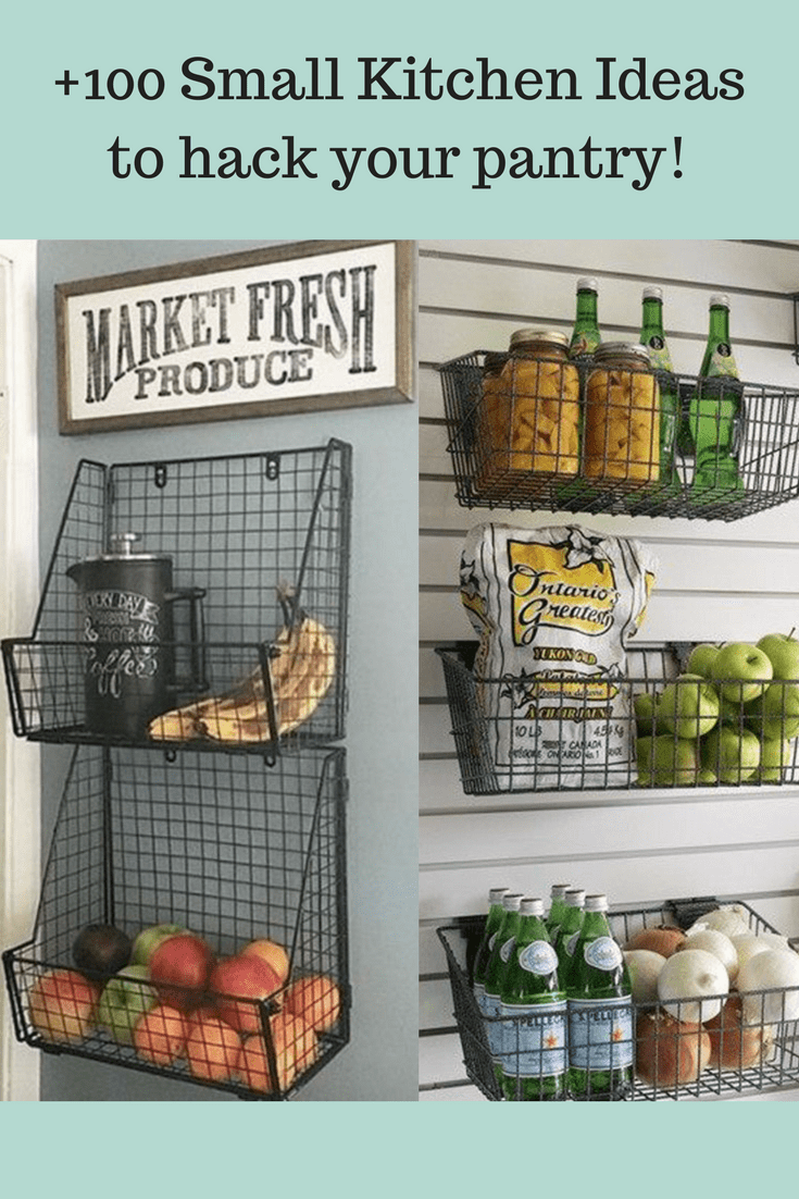 +100 Small Kitchen Ideas to hack your pantry!