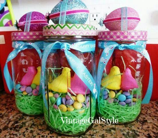 Easter spring is here pinterest easter easter crafts and easter gift jarsmason negle Images