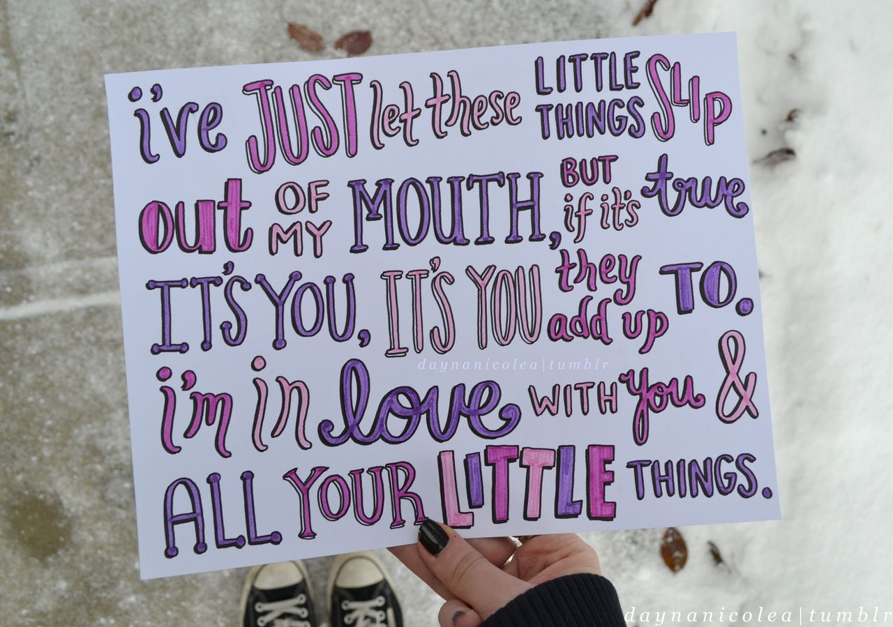 loveee. - daynanicolea:   Little Things - One Direction